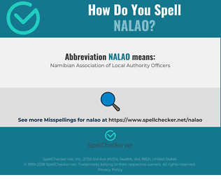 Correct spelling for NALAO