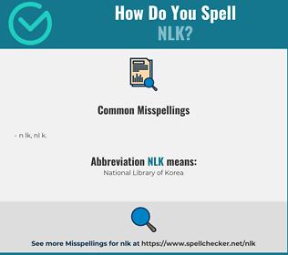 Correct spelling for NLK