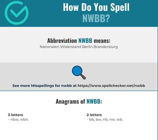 Correct spelling for NWBB