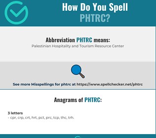 Correct spelling for PHTRC
