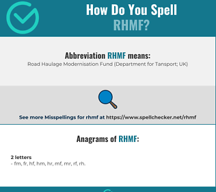 Correct spelling for RHMF