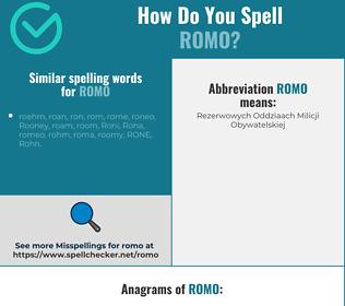 Correct spelling for romo