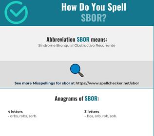 Correct spelling for sbor