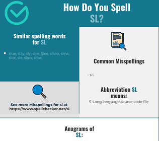Correct spelling for SL