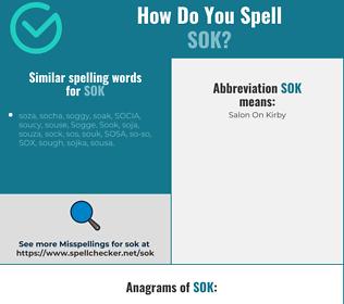 Correct spelling for SOK