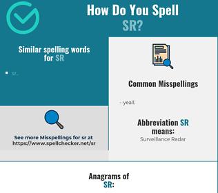 Correct spelling for sr