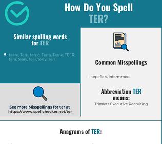 Correct spelling for ter