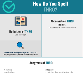 Correct spelling for thro