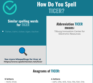 Correct spelling for ticer