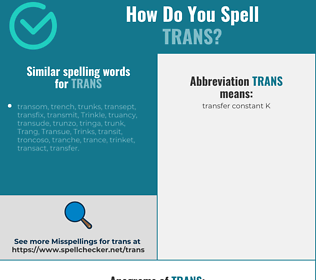 Correct spelling for trans