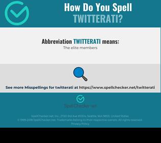 Correct spelling for twitterati