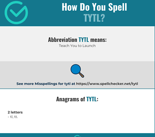 Correct spelling for TYTL