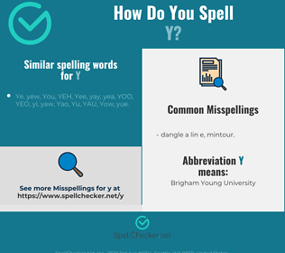 Correct spelling for y