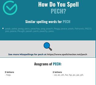 Correct spelling for pech