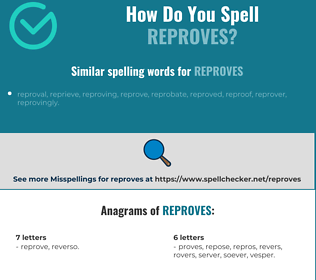 Correct spelling for reproves