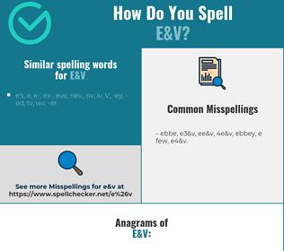 Correct spelling for E&V