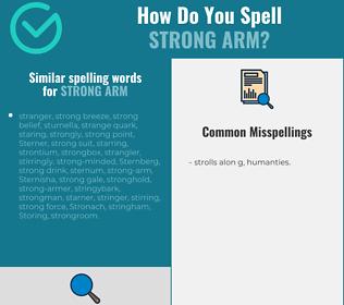 Correct spelling for strong arm