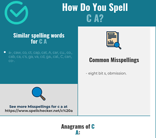 Correct spelling for c a