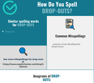 Correct spelling for drop-outs