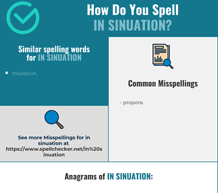 Correct spelling for in sinuation