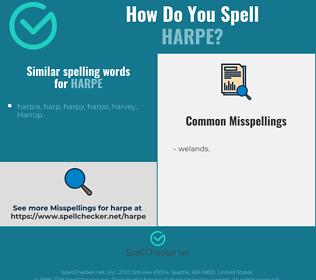 Correct spelling for harpe