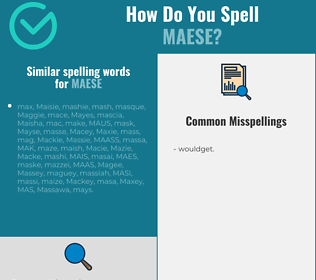 Correct spelling for maese