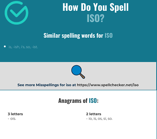Correct spelling for iso