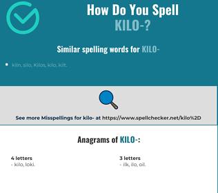 Correct spelling for kilo-