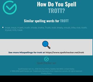 Correct spelling for trott