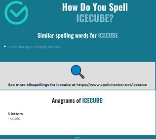 Correct spelling for icecube