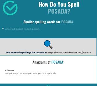 Correct spelling for posada
