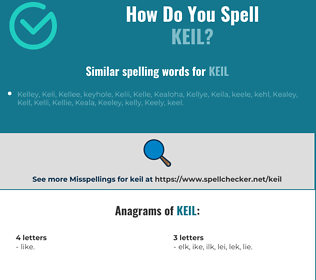 Correct spelling for keil