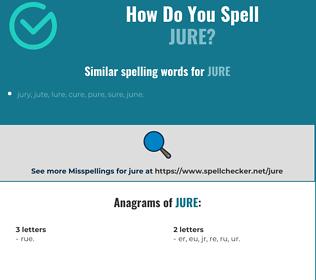 Correct spelling for jure