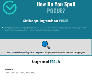 Correct spelling for pogue