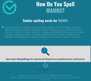 Correct spelling for manns