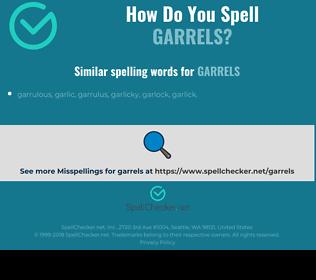 Correct spelling for garrels