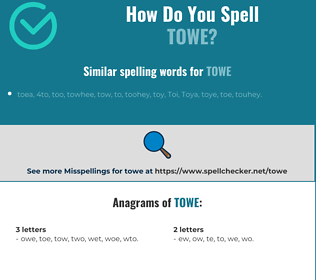 Correct spelling for towe