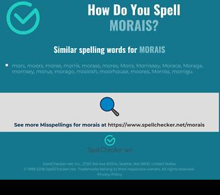 Correct spelling for morais