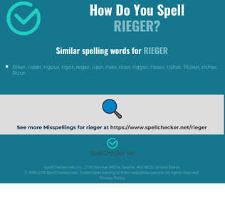 Correct spelling for rieger