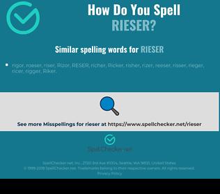 Correct spelling for rieser