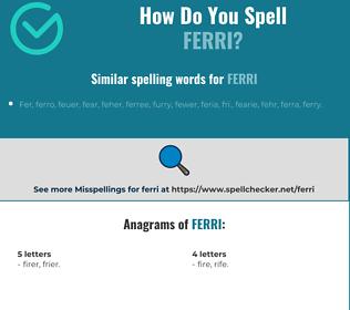 Correct spelling for ferri