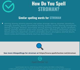 Correct spelling for stroman