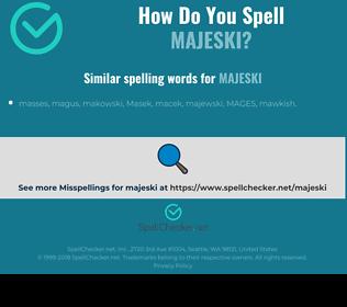Correct spelling for majeski