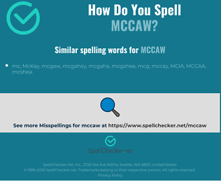 Correct spelling for mccaw