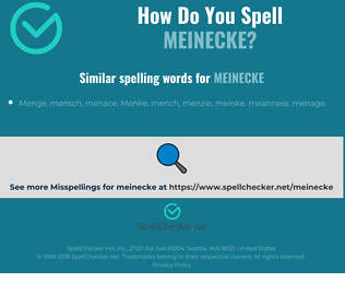 Correct spelling for meinecke
