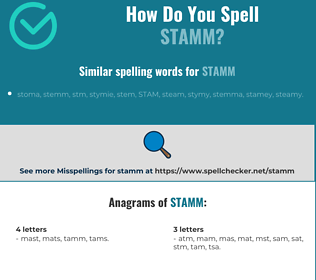 Correct spelling for stamm