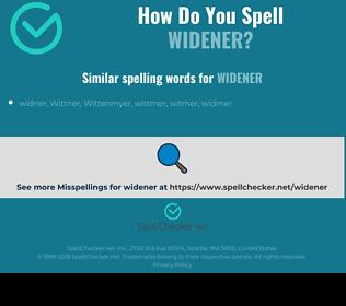 Correct spelling for widener
