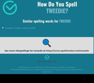 Correct spelling for tweedie