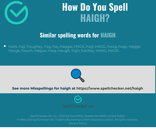 Correct spelling for haigh