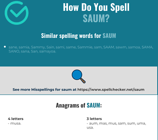 Correct spelling for saum